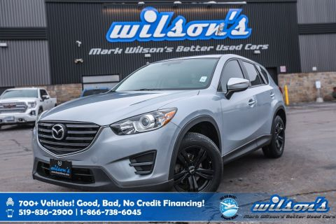 "Certified Pre-Owned 2016 Mazda CX-5 GX, Steering Radio Controls, Cruise Control, 17"" Black Alloys, Power Package and more!"
