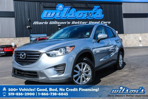 "Certified Pre-Owned 2016 Mazda CX-5 GX with New Tires! Bluetooth, Cruise Control, 17"" Alloys, Power Package and more!"