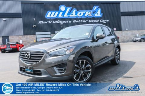 Certified Pre-Owned 2016 Mazda CX-5 GT AWD - Leather, Navigation, Sunroof, Blind Spot Monitor, Reverse Camera, Heated Seats, Alloys