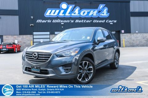 Certified Pre-Owned 2016 Mazda CX-5 GT AWD - Leather, Sunroof, Navigation, Rear Camera, Bluetooth, Alloys and more!