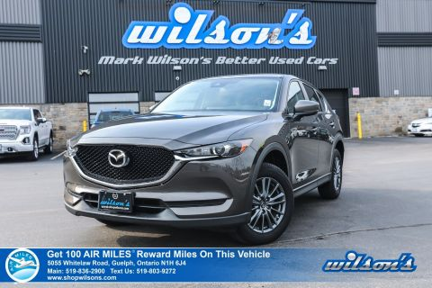 Certified Pre-Owned 2017 Mazda CX-5 GS - Leather Trim, Bluetooth, Heated Seats + Steering, Alloys, Cruise Control and more!