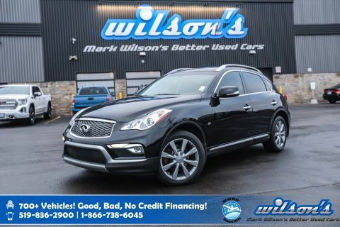 Certified Pre-Owned 2016 INFINITI QX50 AWD, Leather, Sunroof, New Tires, Heated + Power Seats, Bluetooth, Rear Camera and more!