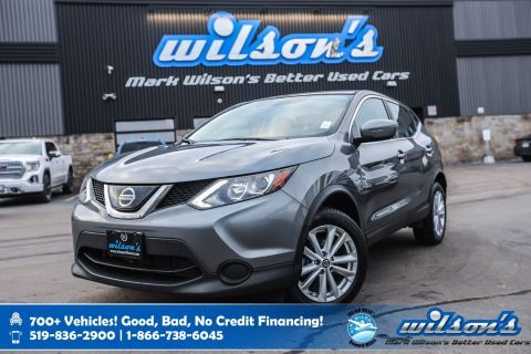 Certified Pre-Owned 2019 Nissan Qashqai S AWD, Apple CarPlay + Android Auto, New Tires, Heated Seats, Blindspot Alert, Rear Camera & more!
