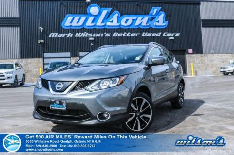 Certified Pre-Owned 2018 Nissan Qashqai SL AWD - Leather, Navigation, Sunroof, Rear Camera, Bluetooth, Heated Steering and Intelligent Cr