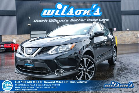 Certified Pre-Owned 2018 Nissan Qashqai SL Used AWD - Navigation, Leather, Sunroof, Blind Spot Warning, AroundView Monitor, & more!