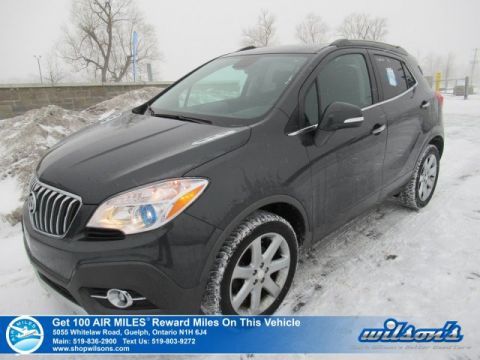 "Certified Pre-Owned 2016 Buick Encore CXL AWD - Only 28,000 km! Leather Navigation, Sunroof, 18"" Chrome, Heated Steering & Seats!"