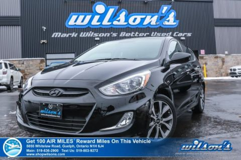 Certified Pre-Owned 2017 Hyundai Accent Se Hatchback - Sunroof, Rear Camera, Heated Seats, Bluetooth, Alloys, and more!