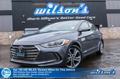 Certified Pre-Owned 2017 Hyundai Elantra Limited Ultimate - Navigation, Leather, Sunroof, Smart Cruise Control, Lane Keep Assist, 9,000km!!!