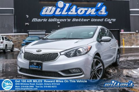 Certified Pre-Owned 2014 Kia Forte SX - Leather, Sunroof, Navigation, Rear Camera, Bluetooth, Heated Steering & Seats plus More!