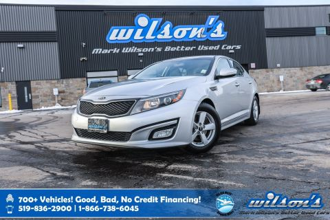 Certified Pre-Owned 2015 Kia Optima LX, Rear Camera, Bluetooth, New Tires, Heated Seats, Alloys, Cruise Control, Power Package and more!