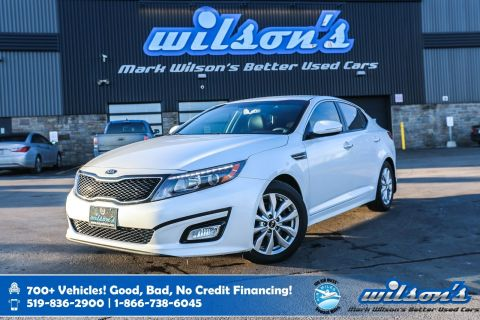Certified Pre-Owned 2015 Kia Optima EX, Leather, Rear Camera, New Tires, Bluetooth, Heated Seats, Alloys, Cruise Control and more!