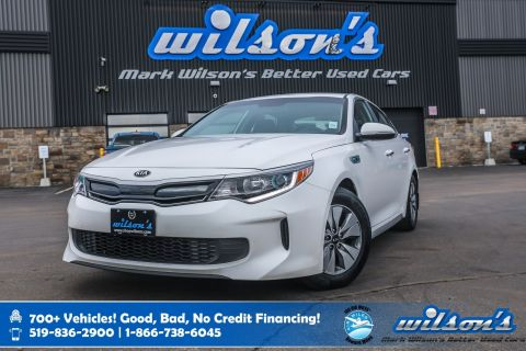 Certified Pre-Owned 2017 Kia Optima Hybrid LX+ Rear Camera, Heated Steering, New Tires, Android Auto + Apple CarPlay, Alloys and more!