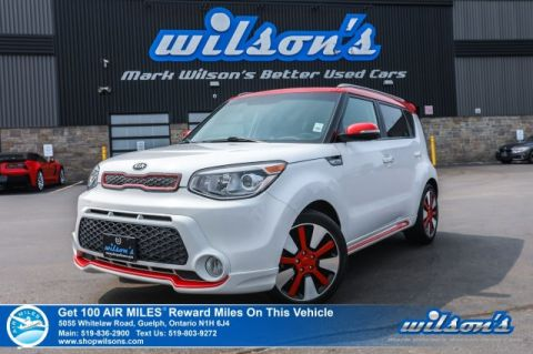 Certified Pre-Owned 2014 Kia Soul Two-Tone Polar White/Red - Leather, Heated Seats, Bluetooth, Reverse Camera, Alloy Wheels and more!