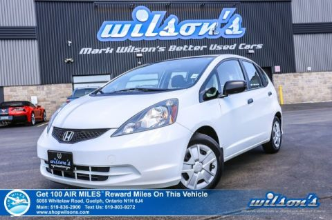 Certified Pre-Owned 2014 Honda Fit DX-A Manual - Air Conditioning, Power Windows, Power Mirrors, CD Player!