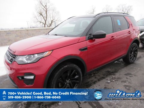Certified Pre-Owned 2016 Land Rover Discovery Sport HSE Luxury AWD, Navigation, Leather, Black Pack, Glass Roof, Front + Rear Heated Seats and more!