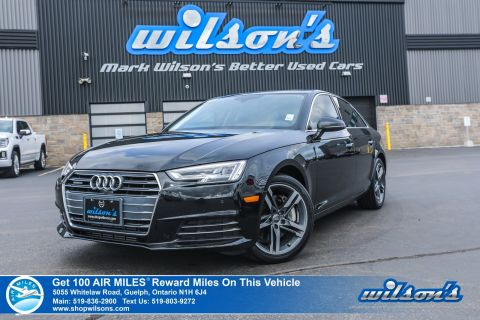 Certified Pre-Owned 2017 Audi A4 Technik AWD - NEW TIRES! Navigation, Leather, Sunroof, Heated Seats, Bluetooth, Alloy Wheels & more!