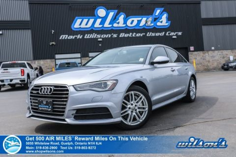 Certified Pre-Owned 2017 Audi A6 quattro 3.0T Progressiv AWD - Only 17,000 km! Clean CarFax! Navigation, Sunroof, & So Much More!!