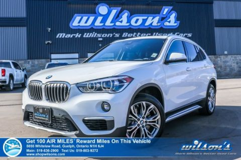 Certified Pre-Owned 2019 BMW X1 xDrive Premium Package – ONLY 11,000 km!! AWD, Leather, Sunroof, Navigation, Rear Park Assist