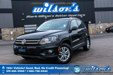 Certified Pre-Owned 2015 Volkswagen Tiguan Trendline 4Motion, Heated Seats, Keyless Entry, Cruise Control, Alloy Wheels and more!