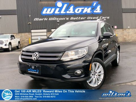 Certified Pre-Owned 2017 Volkswagen Tiguan Comfortline AWD - Leatherette, Navigation, Sunroof, App Connect with Android Auto & Apple CarPlay